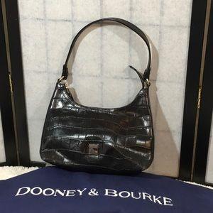 Dooney and Bourke black leather mini satchel